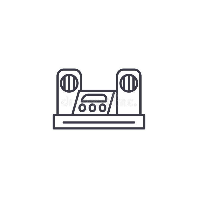 Muzycznego centrum ikony liniowy pojęcie Muzycznego centrum linii wektoru znak, symbol, ilustracja royalty ilustracja