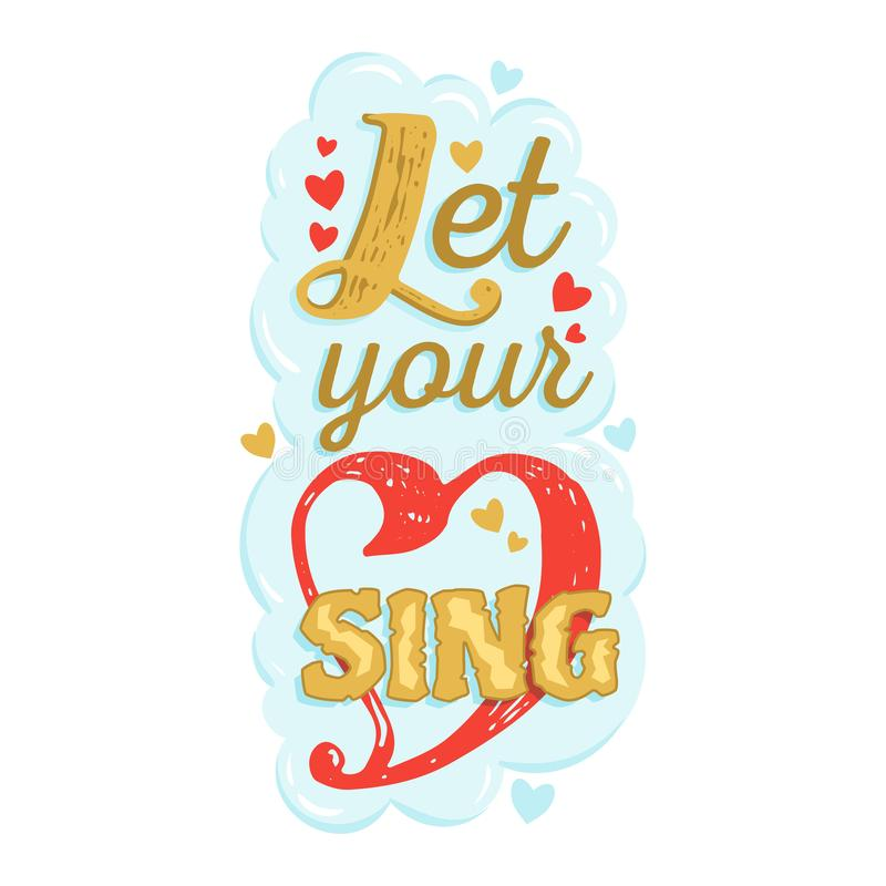 Muzycznego literowania typografii grafiki znaka kaligrafii wektorowy muzykalny tekst lub wycena miłość i muzyki rozsądna wolność  fotografia royalty free