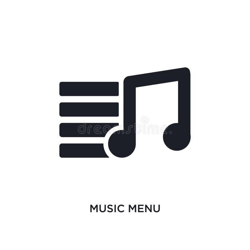 muzycznego menu odosobniona ikona prosta element ilustracja od ostatecznych glyphicons pojęcia ikon muzycznego menu logo znaka ed ilustracji