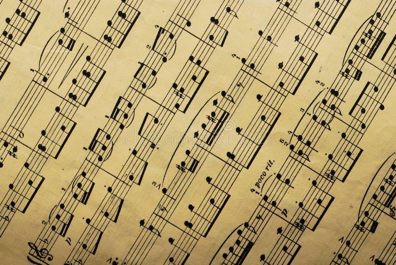 muzycznego papieru prześcieradło zdjęcia stock