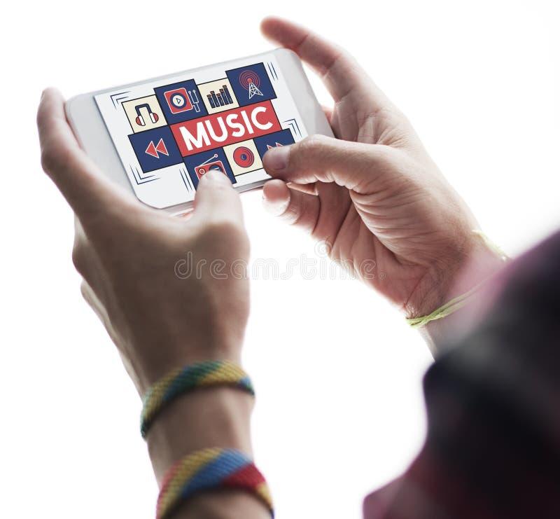 Muzycznej Audio sztuki Instrumentalna melodia Bawić się pojęcie zdjęcie stock