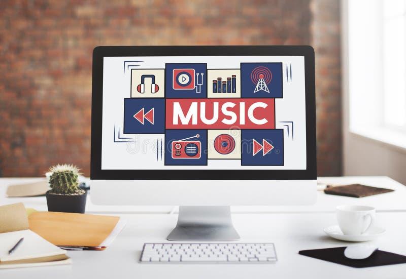 Muzycznej Audio sztuki Instrumentalna melodia Bawić się pojęcie zdjęcie royalty free