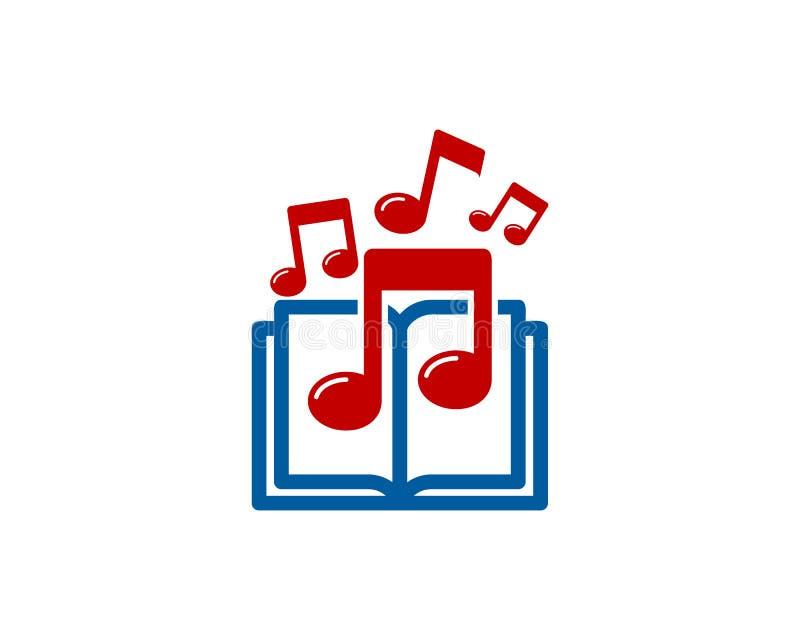 Muzycznej książki loga ikony projekt ilustracja wektor