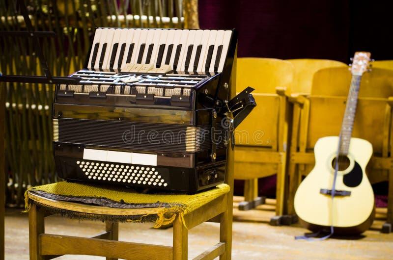 Muzyczni instrumenty zdjęcia stock