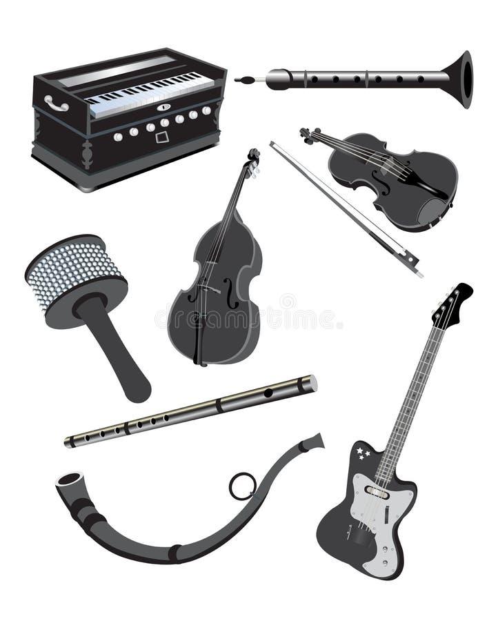Muzyczni instrumenty ilustracji