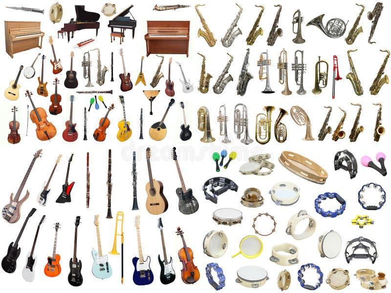 Muzyczni instrumenty ilustracja wektor