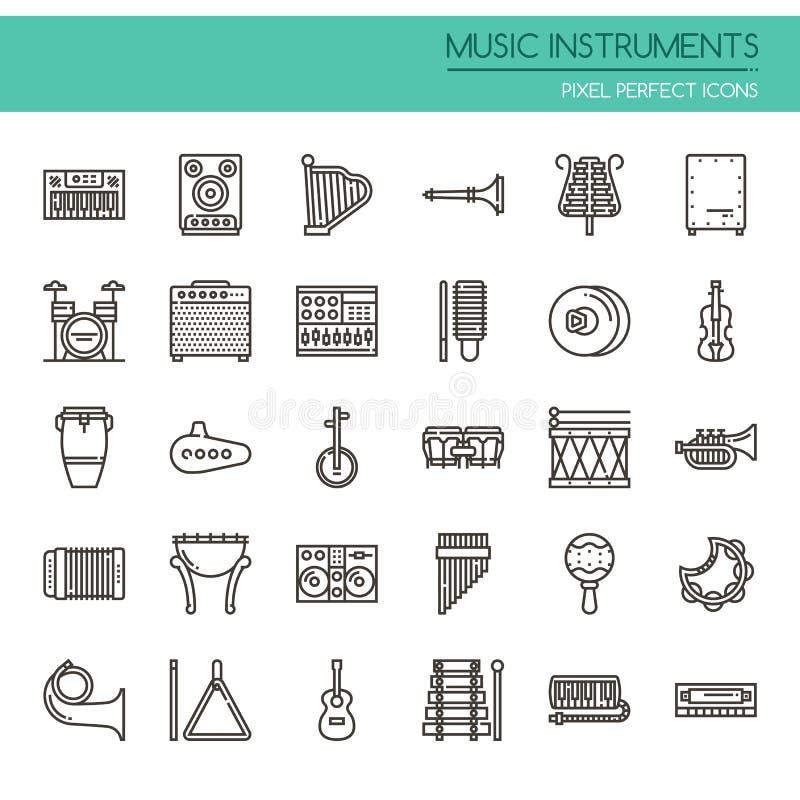 Muzyczni instrumenty royalty ilustracja