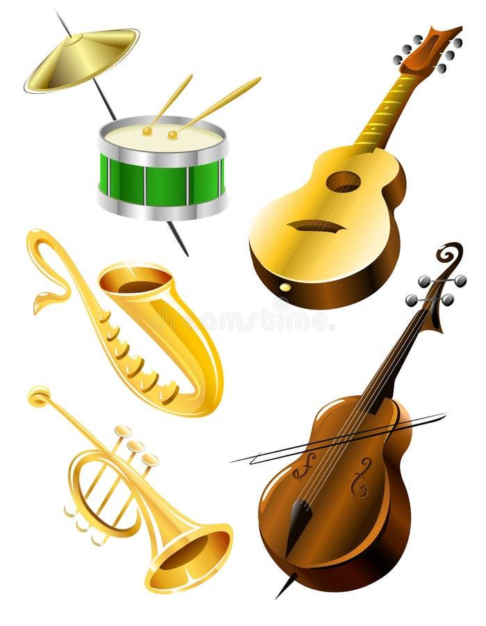 muzyczni kolorów instrumenty ilustracji