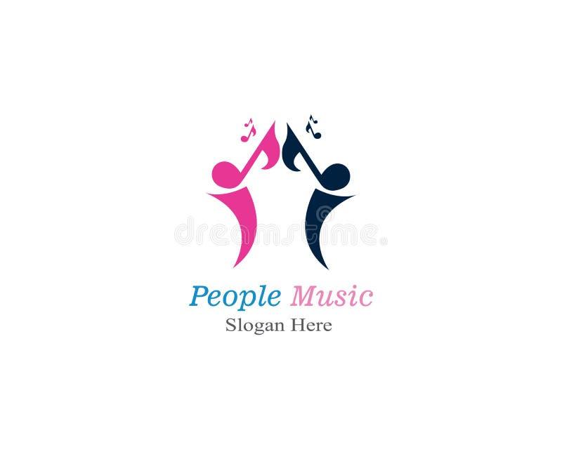 muzyczni ludzie logo szablonu wektoru royalty ilustracja