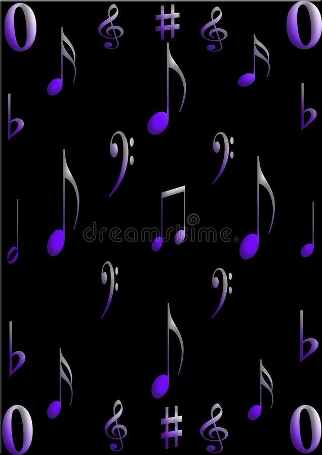 muzyczni symbole zdjęcia stock