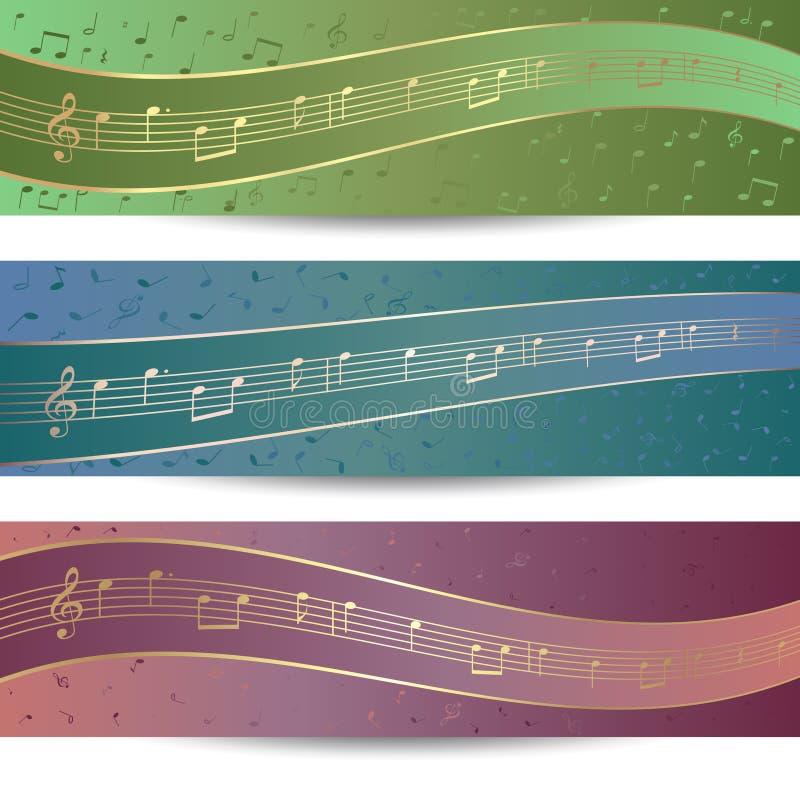Muzyczni sztandary ilustracja wektor