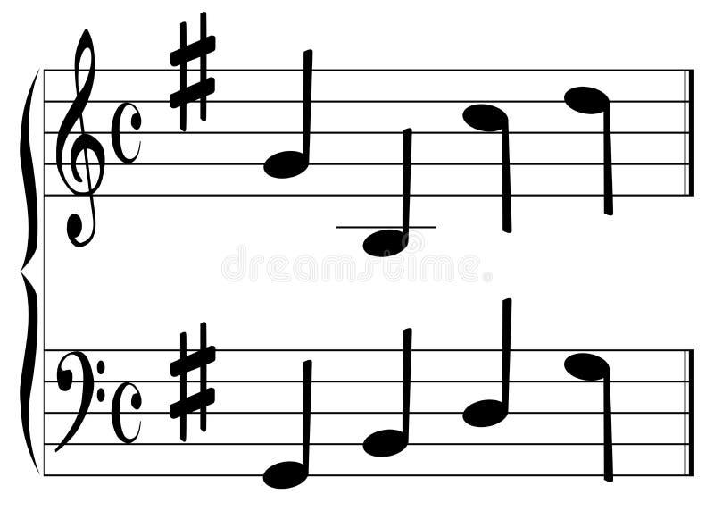 Muzyczny akord royalty ilustracja