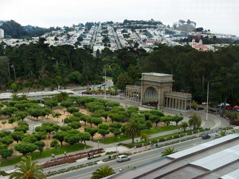 Muzyczny Concourse w San Fransisco golden gate parku zdjęcie royalty free