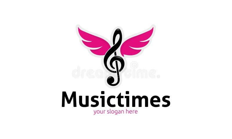 Muzyczny czasu logo royalty ilustracja