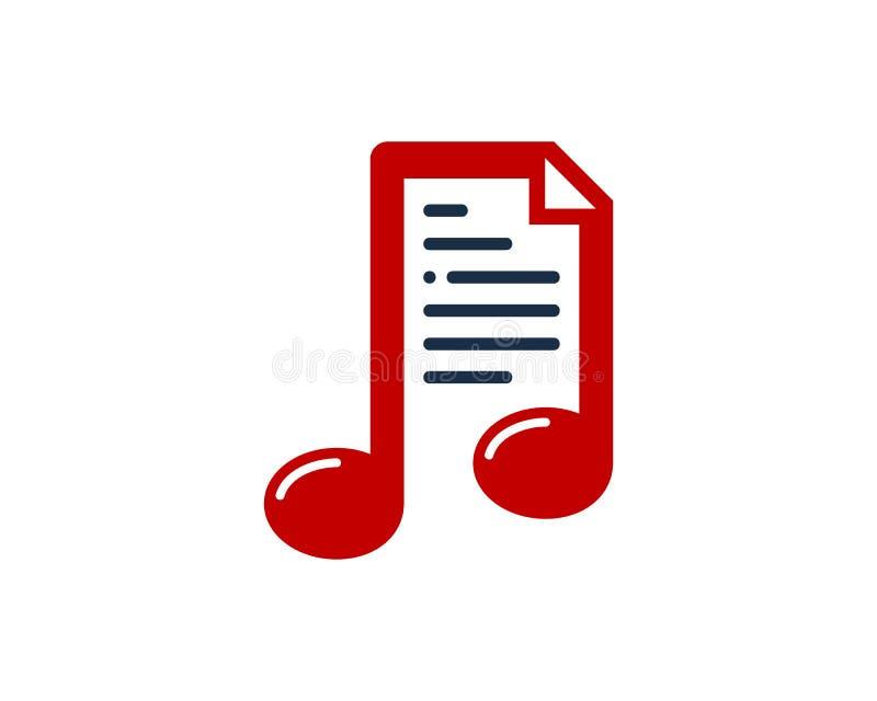 Muzyczny dokument ikony loga projekta element ilustracji