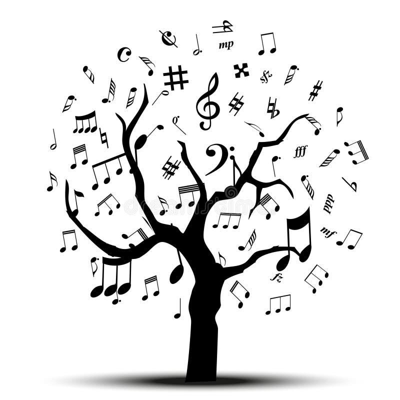 Muzyczny drzewo ilustracja wektor