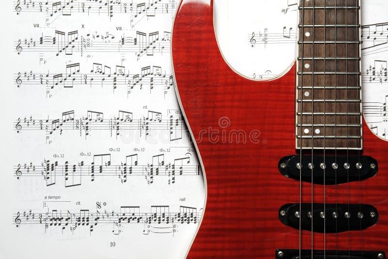 muzyczny gitary prześcieradło obraz royalty free