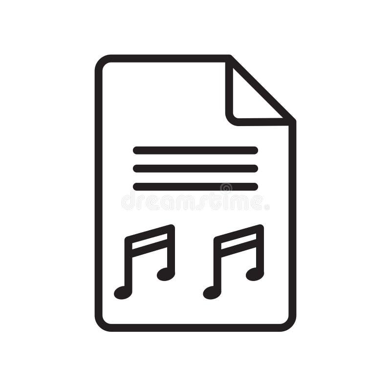 Muzyczny kartoteki ikony wektoru znak i symbol odizolowywający na białym backgro ilustracja wektor