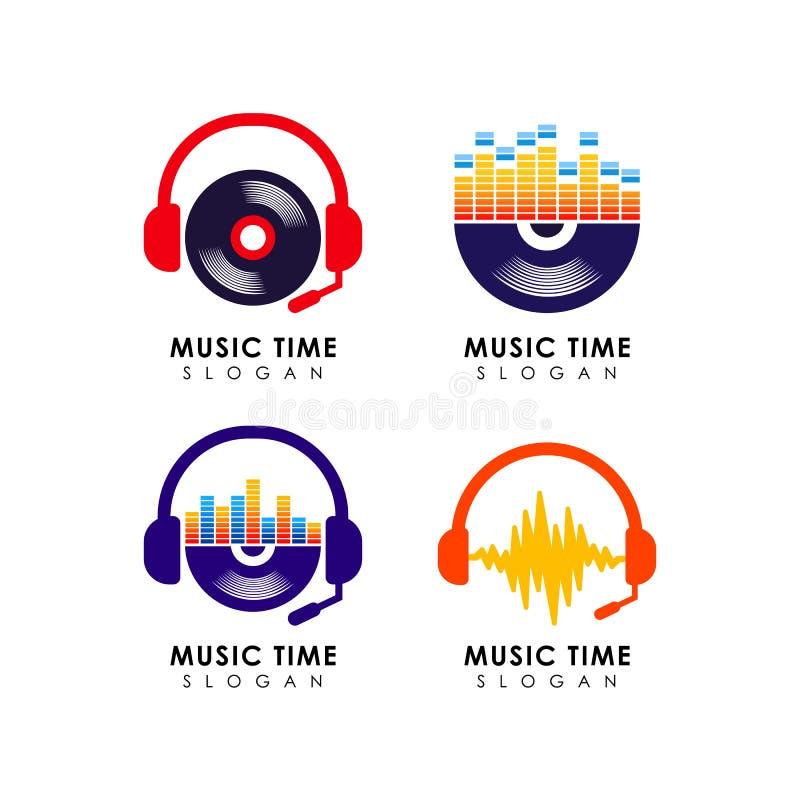 Muzyczny loga projekta szablon muzyczny ikona symbolu projekt ilustracja wektor