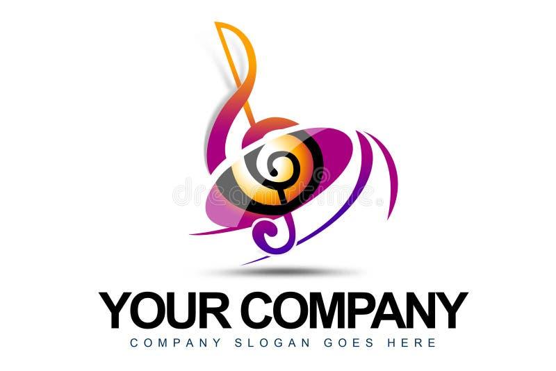 Muzyczny Logo ilustracja wektor