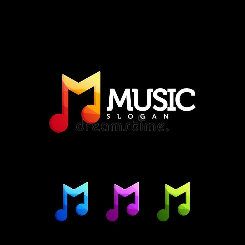 Muzyczny logo projekt, wektor, ilustracja gotowa używać ilustracja wektor