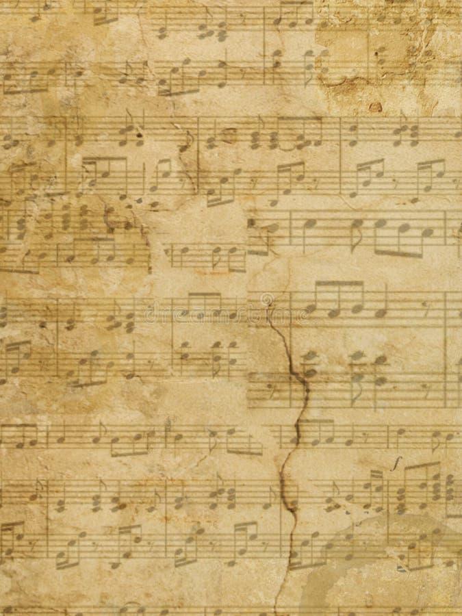 Muzyczny Pergaminowego papieru Grunge zdjęcie stock