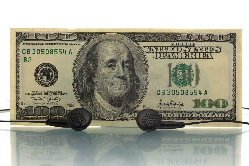 Muzyczny pieniądze zdjęcie stock