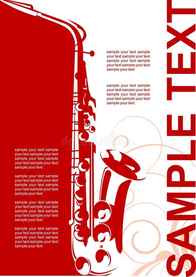 muzyczny plakat royalty ilustracja