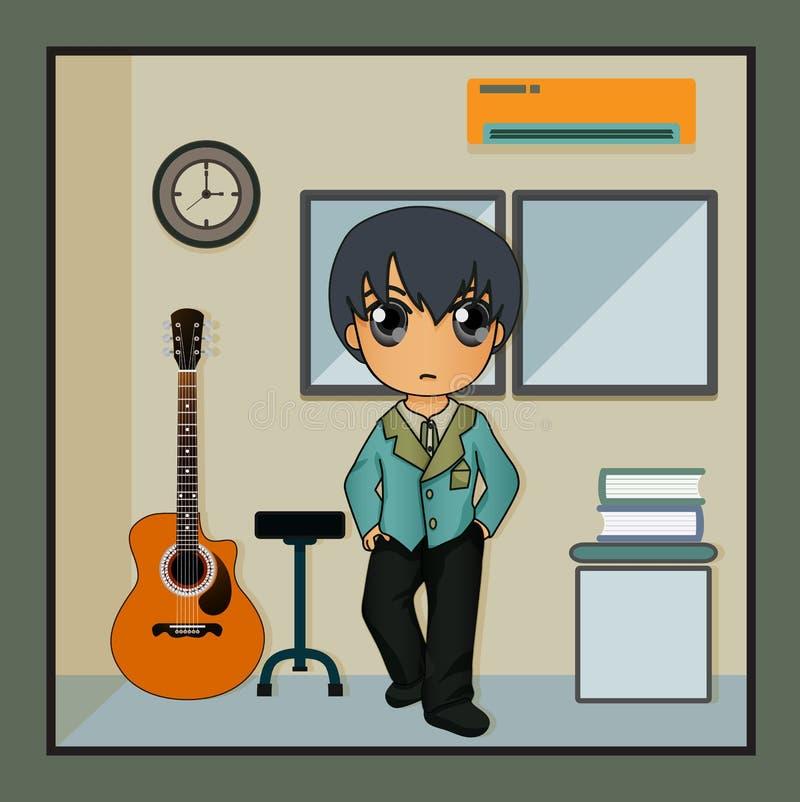 Muzyczny pokój ilustracji