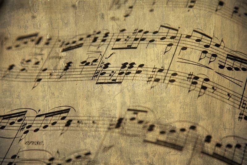 muzyczny stary prześcieradło obrazy stock