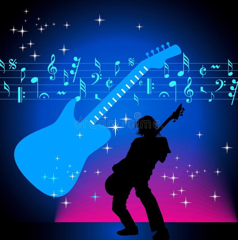 Muzyczny tło w muzykalnym wydarzeniu ilustracji