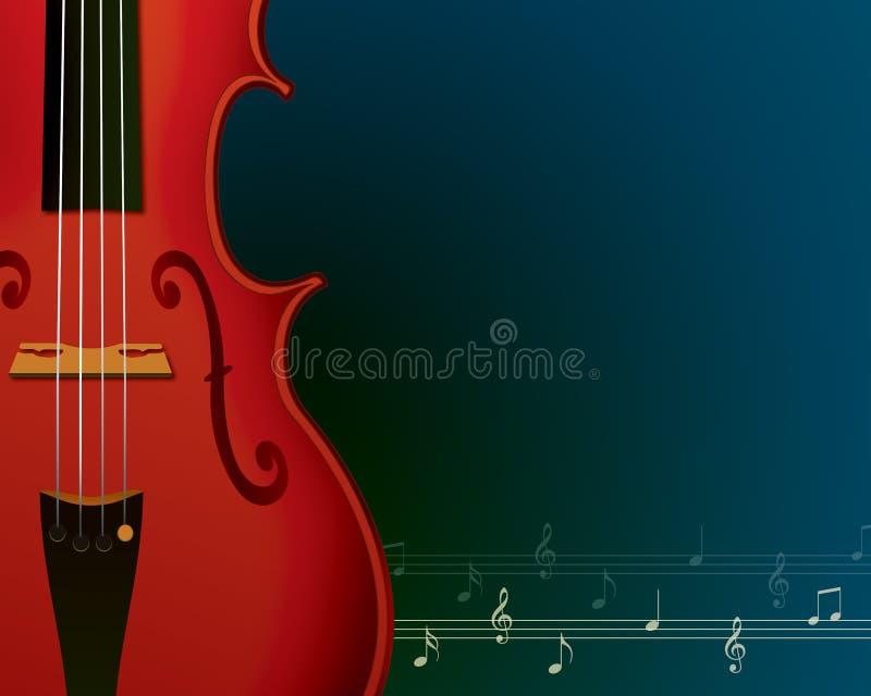 Muzyczny tło z skrzypce ilustracja wektor