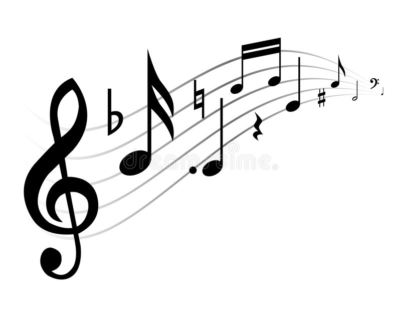 muzyczny temat royalty ilustracja