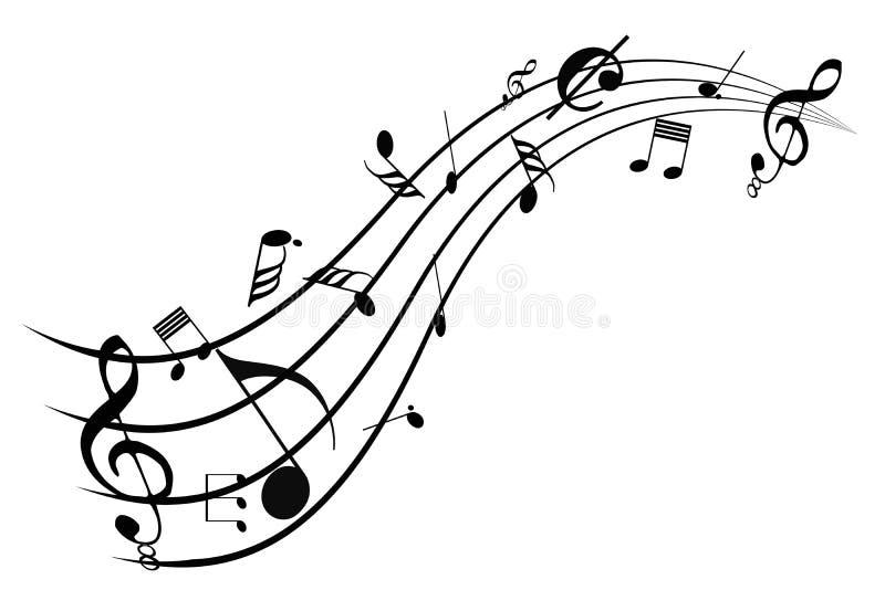 Muzyczny zawijas ilustracji