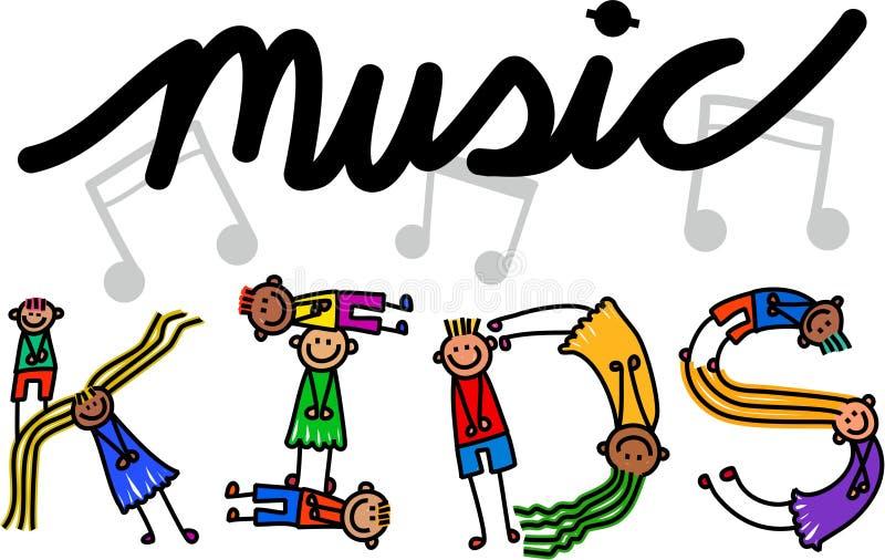 Muzycznych dzieciaków Tytułowy tekst ilustracji
