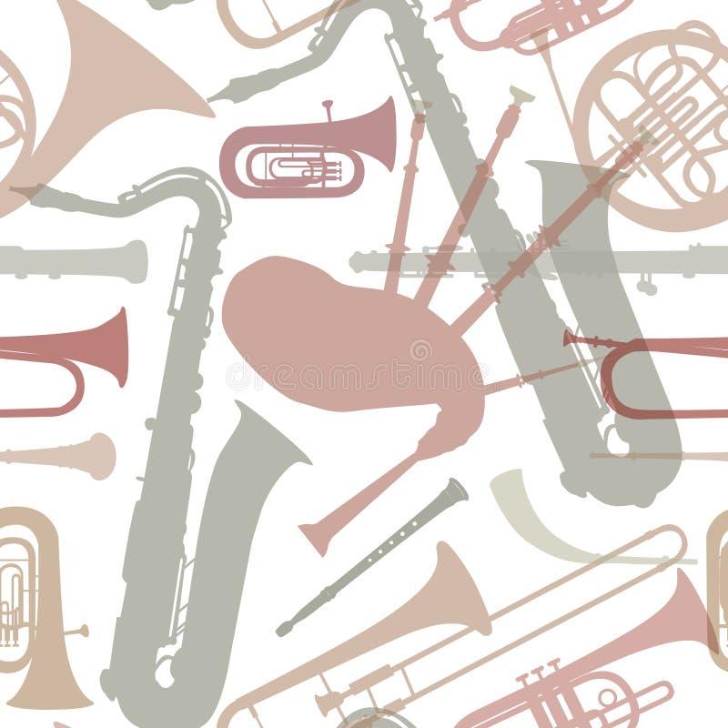 Muzycznych instrumentów bezszwowa tekstura ilustracji