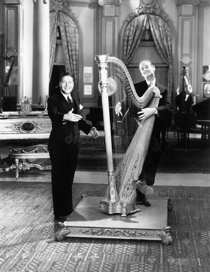 Muzyk bawić się harfę (Wszystkie persons przedstawiający no są długiego utrzymania i żadny nieruchomość istnieje Dostawca gwaranc zdjęcie stock