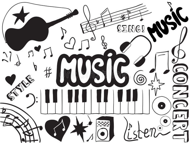 Muzyk Doodles Obraz Royalty Free