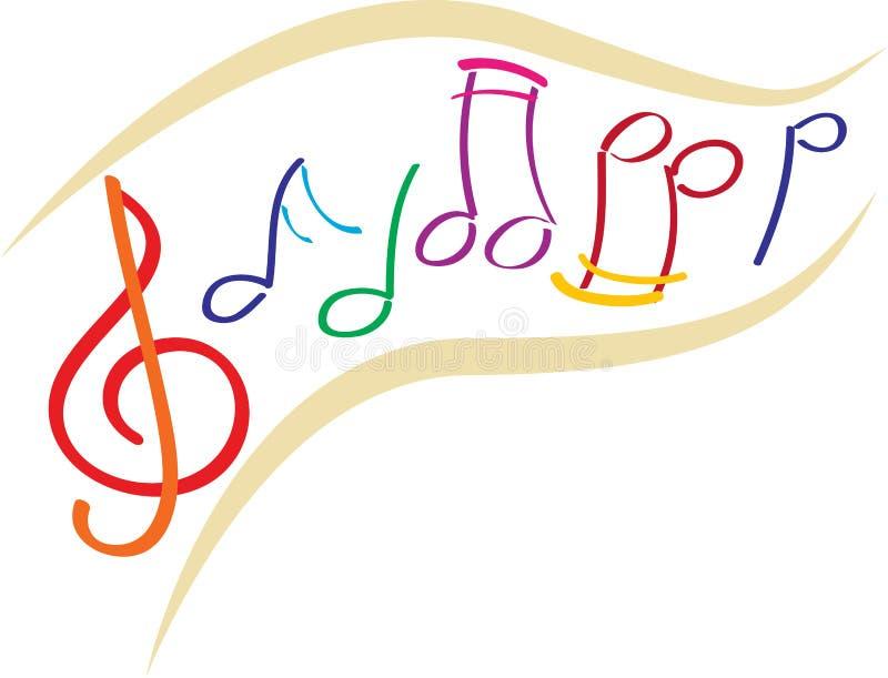 Muzyk notatki royalty ilustracja