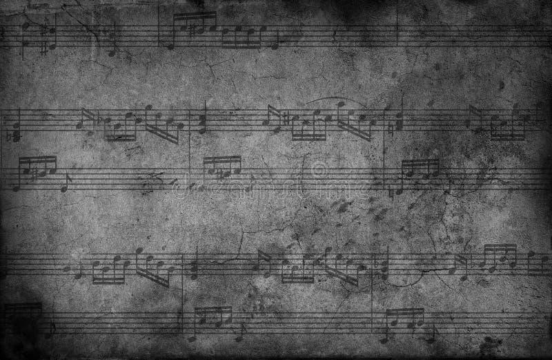 Muzyk notatki. grunge tło ilustracja wektor