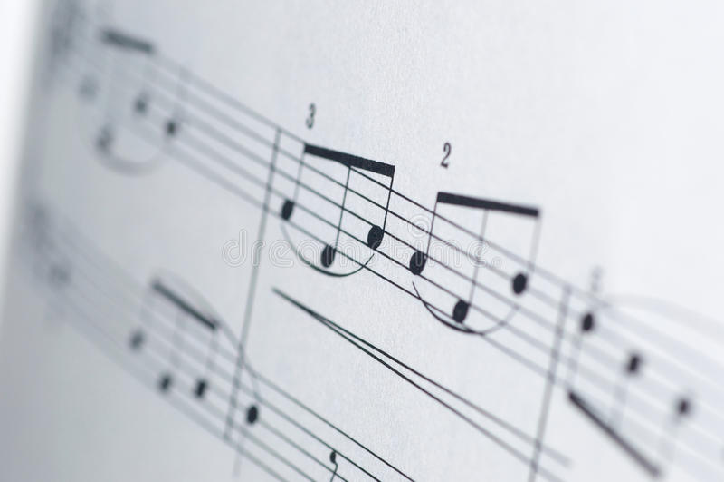 Muzyk notatki na białym tle royalty ilustracja