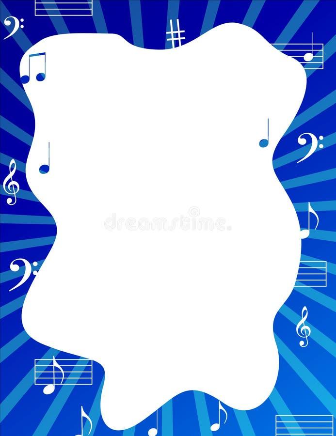muzyk notatki ramowych graniczne ilustracja wektor