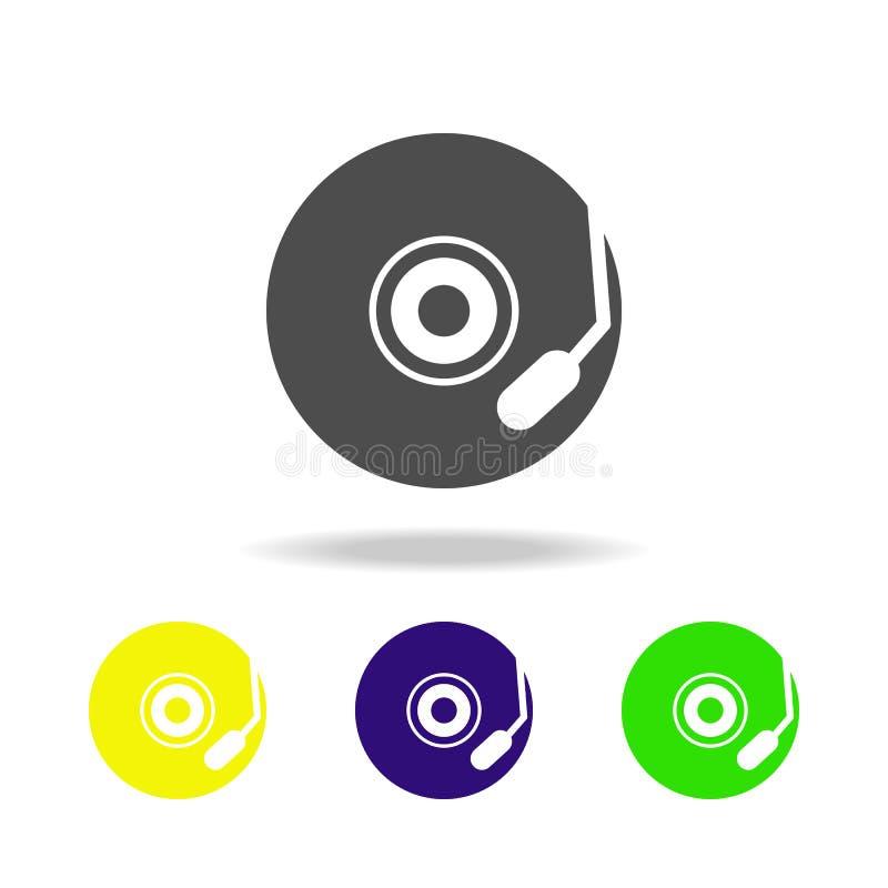 muzyk półkowe stubarwne ikony Element muzyczna ikona Znaki i symbol inkasowa ikona dla stron internetowych, sieć projekt, mobilny ilustracji
