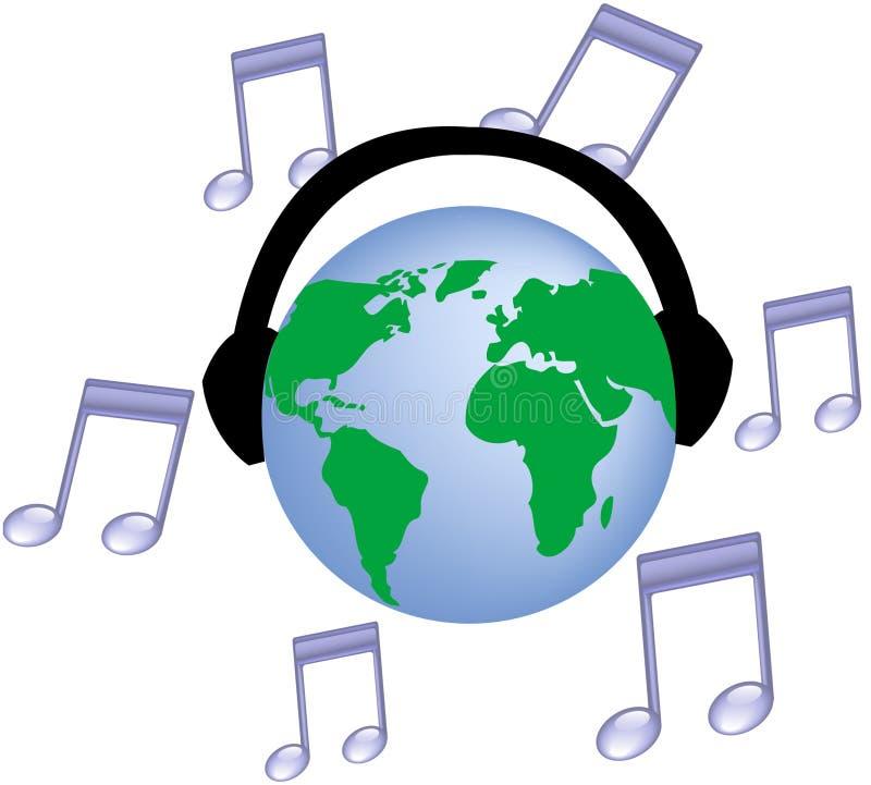 muzyka świata ilustracji