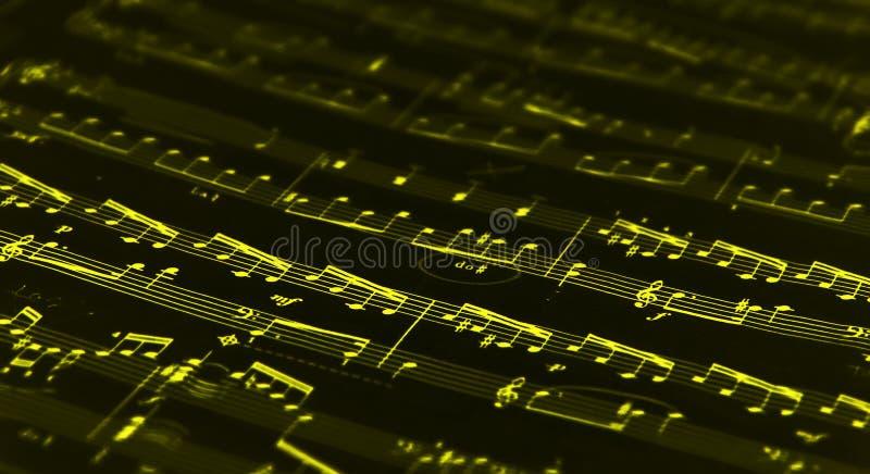 muzyka, żółty fotografia royalty free