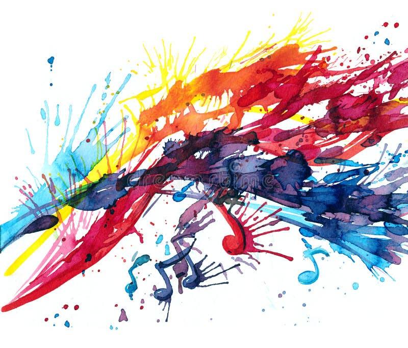 muzyka abstrakcyjna ilustracja wektor