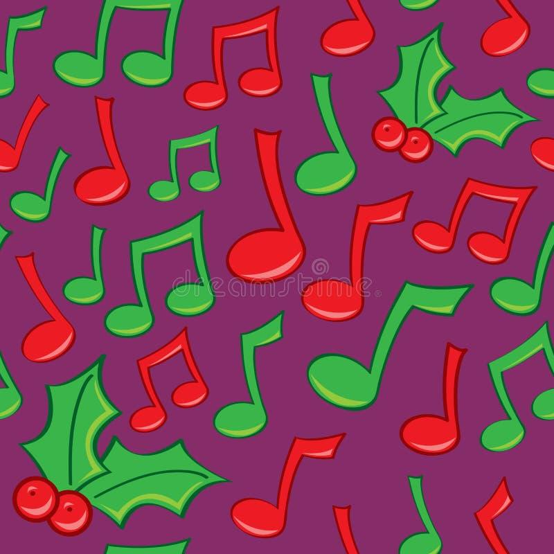 Muzyka bezszwowy Wakacyjny Wzór ilustracji