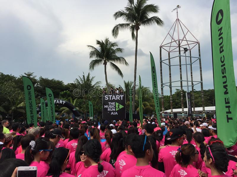 Muzyka bieg Singapur 2015 fotografia royalty free