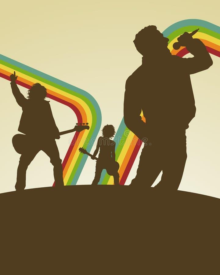muzyka disco retro plakatu ilustracja wektor