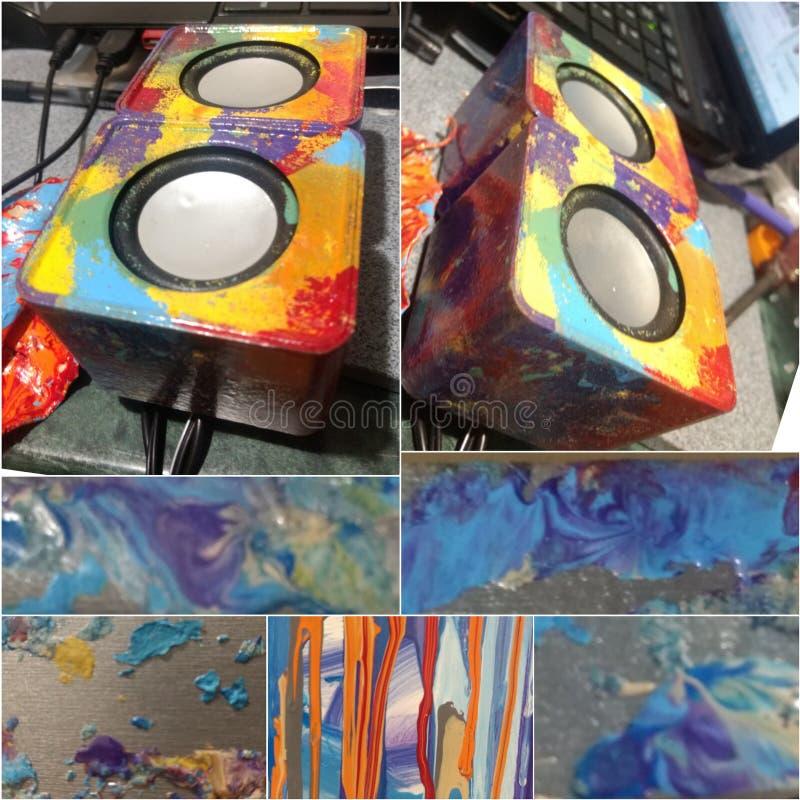 Muzyka & farba obrazy royalty free